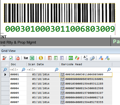 Barcode read